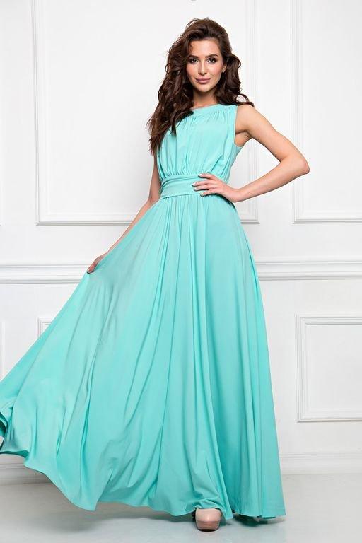 Платье Амелия (П-36-1)  Платье из тонкой плательной ткани.  Состав ткани 60% п/э,35%вискоза, 5 % эластан.  Юбка без подклада (не просвечивает), верх полностью на подкладе  Длина юбки от талии 110см.  Рост фотомодели 170см,размер 42.