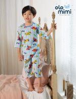 Стильная и удобная детская одежда для дома и сна Южная Корея Olomimi NEW20SS, Flying airplane, жаккард O20S704PB