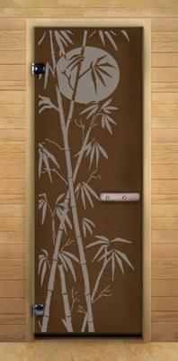 Двери деревянные и стеклянные для бани