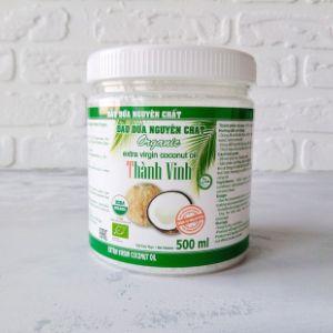 Кокосовое масло Organic Extra Virgin, ТМ Thanh Vinh, Вьетнам, бан. 500 мл