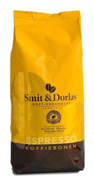 Rainforest Medium Espresso. Сертификация Rainforest Medium Alliance. Ароматный, нежный кофе с медовым послевкусием с крепостью чуть выше среднего.