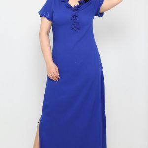 29 $ ЦВЕТ: ЯРКО-СИНИЙ РАЗМЕРЫ: 42, 44, 46, 48 Одежда - Ежедневные платья длинные  100% Полиуретан Оптовые покупки