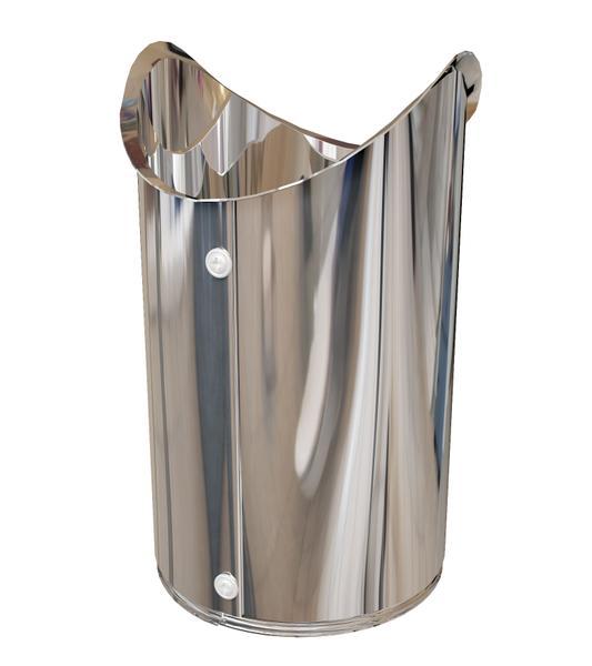 ВРЕЗКА ИЗОЛИН ZNH/ALH/SSH. Формованное металлическое  покрытие, представляющее собой прямой участок оболочки с продольным и поперечным зигами и криволинейным примыканием для сопряжения с основной оболочкой, отверстиями под крепеж и необходимым количеством саморезов.