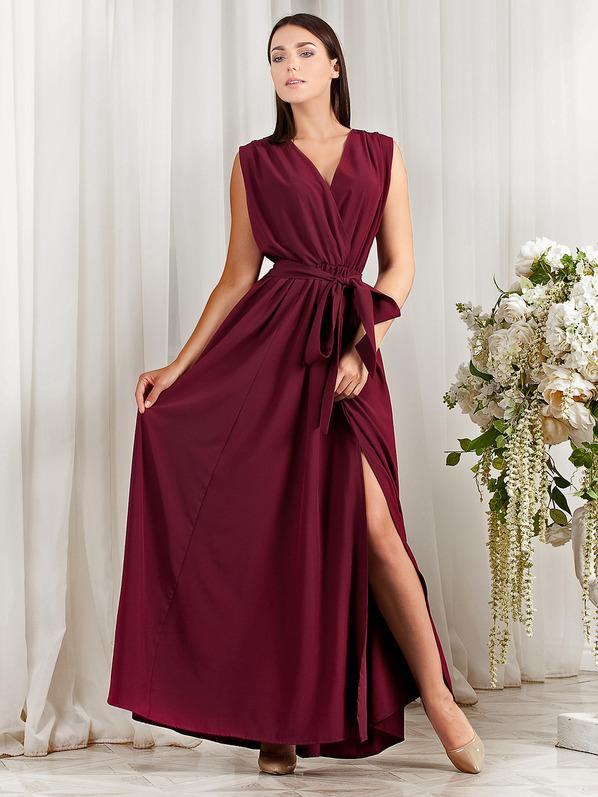 Платье Natal (Арт. R723) марсала Размеры: S (40-44), M (44-48), L (48-52) Ткань: летняя костюмка! Длина: 150-153 см