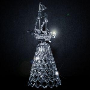 Хрустальный колокольчик (корабль) - ручная работа. Неповторимый звон. цена 160/200/350 руб (10см/13см/18см)
