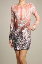 Розовое платье S-twelve D8693-5