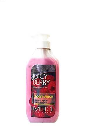 Med BMD:1 Body Therapy Berry Mango Body Wash 500 ml -Серия гелей для душа, содержащая натуральные фруктовые и растительные экстракты, нежно, но эффективно очищает кожу, не пересушивая её и сохраняя защитный барьер кожи, а насыщенные фруктовые аромат
