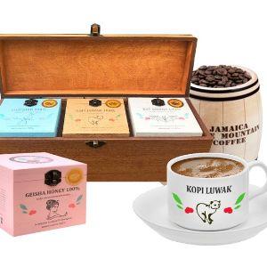 Шкатулки, бочонки с уникальными редкими сортами кофе от компании Поставщик Элитного Кофе.