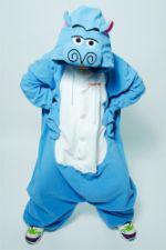 Костюм кигуруми Бегемот Мото FUNKY HIPPO MOTO-MOTO KIGU HippoMotoMoto-BLUE-KIGU-FLS-USX