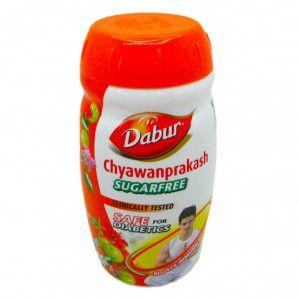 Чаванпраш | Chyawanprash без Сахара Dabur 500г Чаванпраш | Chyawanprash джем без Сахара Dabur | Дабур – уникальный продуктт из особенных растительных компонентов действует на организм как мощное иммуномодулирующее, укрепляющее, тонизирующее и восстанавливающее средство.  Джем имеет довольно сложный рецепт, состоящий из сложной комбинации трав, растительных масел, традиционных индийских специй. Благодаря чему регулярный его прием поможет естественным способом наладить работу всех жизненных систем организма. Появится прилив сил, отступят многие недуги, так как организм начнет сам бороться с вредными бактериями.  Чаванпраш | Chyawanprash джем без Сахара Dabur | Дабур: особенности продукта Джем чаванпраш без сахара – уникальное средство, предназначенное специально для тех, кто болен диабетом. Оно, как и традиционная чаванпраш, действует сразу в нескольких направлениях, оказывая при этом мощное омолаживающее действие.  Если купить чаванпраш без сахара, то можно:  контролировать вес тела, уменьшив жировую прослойку за счет активизации обменных реакций, а также, если использовать средство в качестве заменителя сладостей (тогда можно принимать по 2 чайные ложки); укрепить иммунитет естественным путем, повысив защитные функции организма; обеспечить выведение шлаков и токсинов из организма; нормализовать работу всех важных систем: сосудистой, нервной, эндокринной (так как чаванпраш справляется с расстройствами нервной системы, борется с заболеваниями кожи, укрепляет стенки сосудов, повышая их эластичность); усилить концентрацию внимания, стимулировать работу мозга. Важно купить чаванпраш и принимать его курсами в период беременности, так как он позволяет восполнить недостаток микроэлементов и витаминов в этот период.  Для учащихся, занятых тяжелым умственным трудом, когда часто случаются стрессы и нервные перенапряжения, средство помогает, благодаря нормализации притока крови, повысить усваиваемость материала, а также противостоять нервным срывам и апатиям.  Приобрести растит