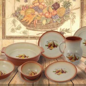 """Керамическая посуда серии """"RUSTIC KITCEN"""" сделана в теплых и мягких пастельных тонах и дарит незабываемые ощущения домашнего тепла и уюта."""