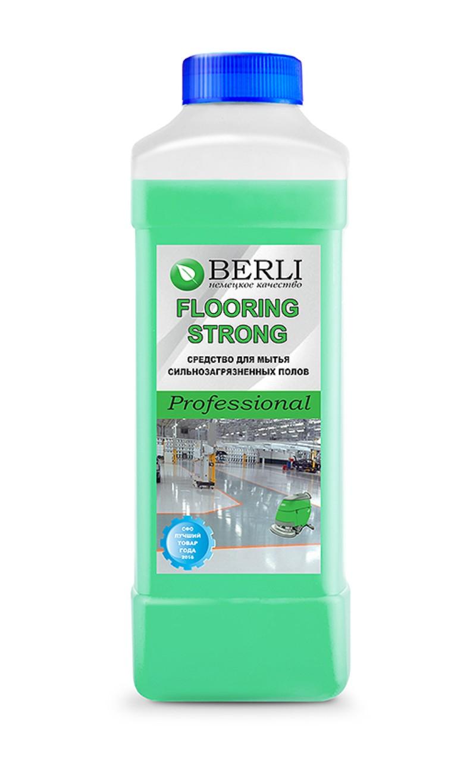 FLOORING STRONG профессиональное средство для мытья сильнозагрязненных полов 1л BERLI