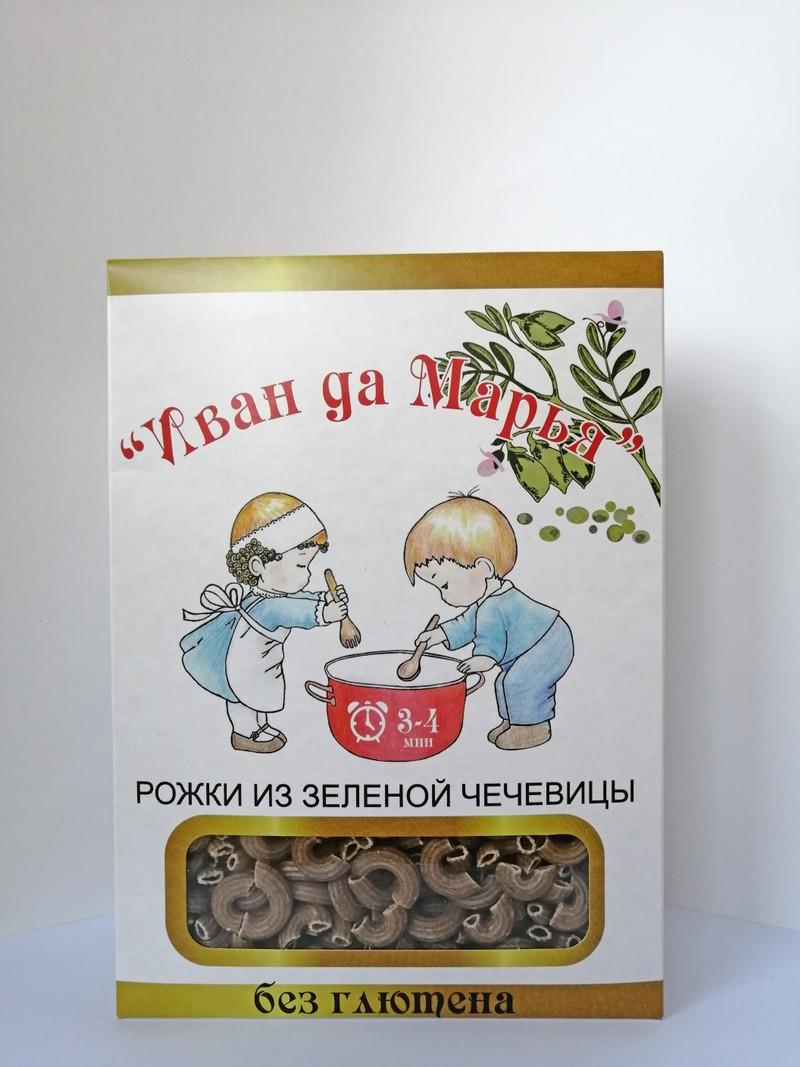 Рожки из зеленой чечевицы— 400 гр. Иван да Марья
