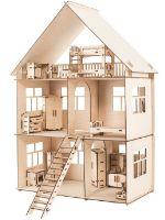 """Кукольный домик с мебелью из дерева Хоммик """"Универсальный"""" 10077000215"""