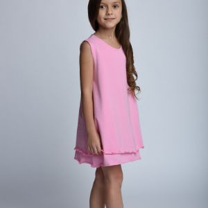 Платье Арт. 1.3004 Для особых случаев и на каждый день. Платье из тонкого трикотажа.  Состав: 92% хлопок, 8% эластан.  Доступные цвета: -какао (Арт.1.088) -молочный (Арт.1.0201) -ментол (Арт.1.1301) -пудра (Арт. 1.1508) -розовый (Арт. 1.3004) -черный (Арт. 1.3156) Размеры: 98, 104, 110, 116, 122, 128, 134