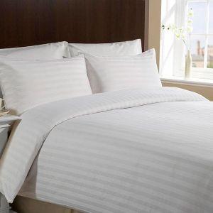 Ткань страйп-сатин для гостиниц и отелей. Отбеленный страйп с мерсеризацией, ширина 240см, плотность 125 и 135гр