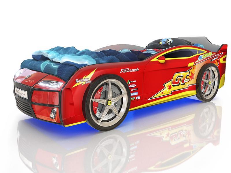 Кровать Kiddy красная молния. Габаритные размеры 178*82 см Спальное место 160*70 см Ортопедическое основание.