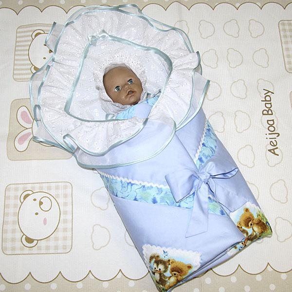 """Комплекты на выписку для новорожденных. Новинка от Счастливой пчелки!!! Комплект """"Перышко"""" для новорожденного, сезон весна-лето, из нежного сатина и шитья."""