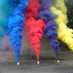 Цветной дым.
