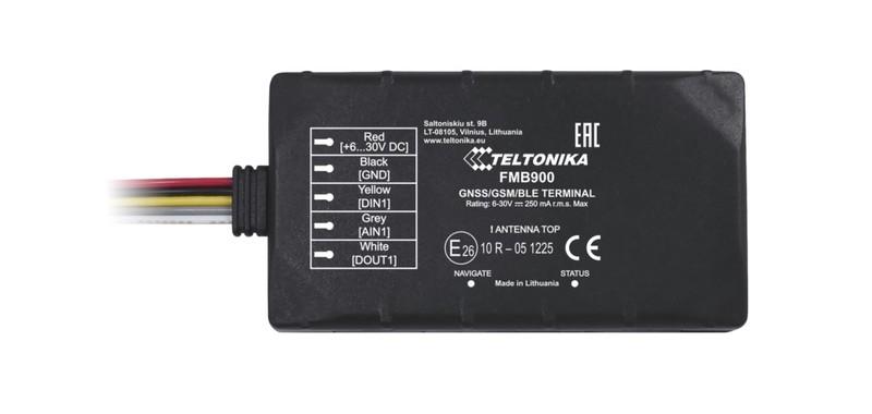 FMB900 — компактный и умный трекер с поддержкой Bluetooth, оснащён внутренними ГНСС и GSM антеннами с высоким усилением.  FMB900 — лёгкий, ГНСС/GSM/Bluetooth терминал, предназначенный для трекинга в режиме реального времени. Трекер собирает данные о местонахождении и работе движущегося объекта и передаёт их по GSM-сети на сервер. Подключение внешних Bluetooth-устройств позволит значительно расширить функциональные возможности трекера FMB900.  FMB900 идеально подходит для применений, где требуется определение местоположения удалённых объектов: •безопасность •управление автопарками •аренда автомобилей •службы такси •общественный транспорт •логистические компании •легковые автомобили и т. п. Bluetooth Встроенная функция Bluetooth обеспечивает подключение беспроводной гарнитуры и различные датчики с поддержкой Bluetooth. Связывайтесь со своими сотрудниками через Bluetooth гарнитуру. Теперь больше нет несанкционированных звонков! Убедитесь, что ваши сотрудники соблюдают правила дорожного движения и всегда пользуются телефоном только через Bluetooth-гарнитуру! MicroSD Вы не потеряете ни одной записи благодаря наличию microSD-карты ёмкостью до 32 ГБ! При временном отсутствии сотовой связи FMB900 сохранит все данные на microSD карте. Современная противоугонная система Предотвратите угон вашего транспортного средства при помощи современной противоугонной системы, совмещающей в себе функции геозоны и обнаружения буксировки.  Ультра компактный размер Легко установить, сложно обнаружить! Устройство защищено от внепланового отключения благодаря не. Размер трекера всего: 79 x 43 x 12 мм. Умная функция обнаружения аварии Обеспечьте безопасность ваших сотрудников при помощи умной функция обнаружения аварии (SMART Crash detection). Оповещение о тревоге приходит мгновенно сразу после инцидента, это спасёт жизнь вашим сотрудникам! Отличительные особенности •Bluetooth приёмопередатчик с поддержкой Bluetooth V3.0 для подключения внешних устройств •Карта памяти microSD ёмкостью до 32 ГБ,
