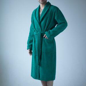 Зеленый махровый халат