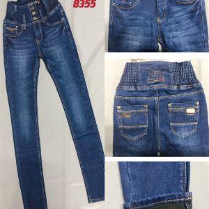 артикул 8355  размер 25-30 (русский 42-52)  цена  780 р джинсы женские зима на флисе