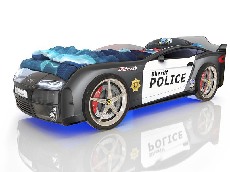 Кровать Kiddy Полиция. Габаритные размеры 178*82 см Спальное место 160*70 см Ортопедическое основание.