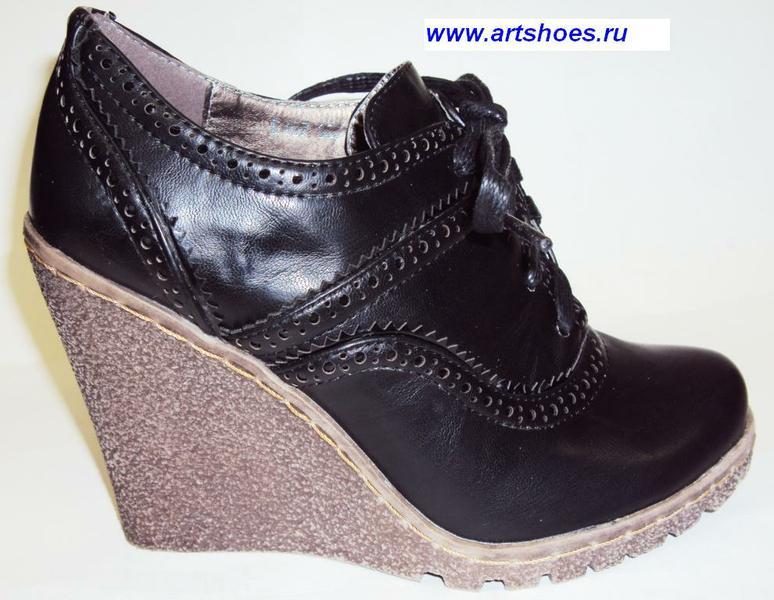 Туфли женские. Туфли женские из искусственной кожи на платформе