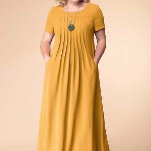 Женское трикотажное платье . размерный ряд- 46-60р. Цена 2600р