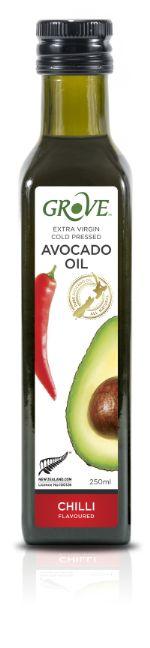 Масло авокадо GROVE AVOCADO OIL EXTRA VIRGIN. Первый холодный отжим со вкусом Chilli