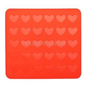 Силиконовый коврик для Макарон в форме сердец. При помощи этого коврика для выпечки можно испечь Macarons (миндальное печенье) в форме сердечек.