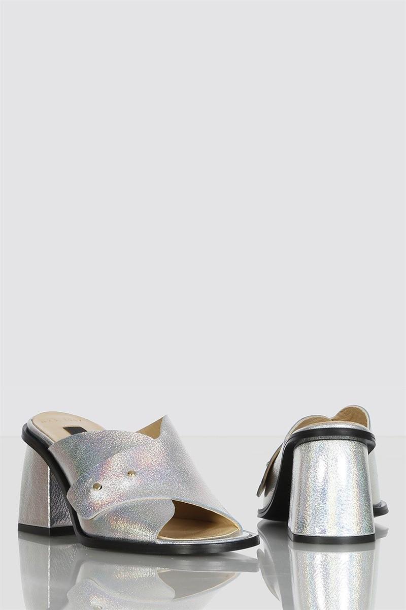 Женские кожаные шлёпанцы на каблуке AllesWunder AW55233600375