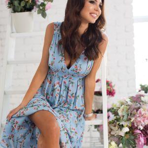 Оксана Самойлова - основатель марки в платье от Mira Seza