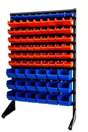 Стеллажи с системой подвешенных ящиков.1500(красно,синий)