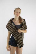 Вязаный шарф/палантин из меха норкиFN FUR