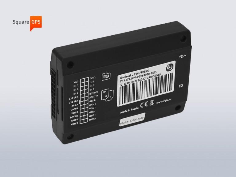Краткие технические характеристики: RS 485, 2xRS 232, CAN Сканер, 1-Wire, внутренняя АКБ, 6 аналогово/дискретно/частотно/ импульсных входов, 4 транзисторных выхода, акселерометр, EcoDrive, 2xNanoSIM, возможность установки Sim-чипа, защита от длительного перенапряжения до 200 В, встроенные антенны, 97х68х22 мм. Возможность заказа индивидуальной комплектации.  Описание: Galileosky 7.0 – легкий и компактный GPS/ГЛОНАСС терминал в пластиковом корпусе со встроенными антеннами. За счет поддержки протоколов RS-485, RS 232, CAN, USB, 1-Wire к прибору можно подключить большое количество внешних устройств. Данная модель доступна для заказа с индивидуальным набором опций. Широкий функционал в компактном корпусе Несмотря на небольшие размеры, GPS/ГЛОНАСС терминал Galileosky 7.0 обладает широкими возможностями для управления вашим автопарком с целью максимального использования и производительности, обеспечения безопасности и эффективности, снижения расхода топлива и риска несчастных случаев. Благодаря подключению к CAN шине вы можете получать информацию о параметрах работы автомобиля, таких как обороты двигателя, пробег, состояние штатных устройств автомобиля, температура охлаждающей жидкости и другие. При подключении дополнительных датчиков к терминалу в системе мониторинга транспорта возможно передавать информацию давлении в шинах, открытии и закрытии дверей, а интеграция с оборудованием рефрижераторов обеспечивает контроль температуры и влажности транспортировки. Установка датчиков веса позволит избежать перегрузку транспортного средства или кражу грузов, а также получать отчеты с указанием места, времени и веса погрузки. Поддержка протоколов RS232, RS485 и 1-Wire открывает широкие возможности для контроля дисциплины водительского состава. С  терминалом Galileosky 7.0  вы можете настроить отслеживание графика работы и отдыха персонала, фиксировать данные о расходе топлива и сливах горючего. В дополнение к этому богатому функционалу программирование Easy Logic снимает любые ог