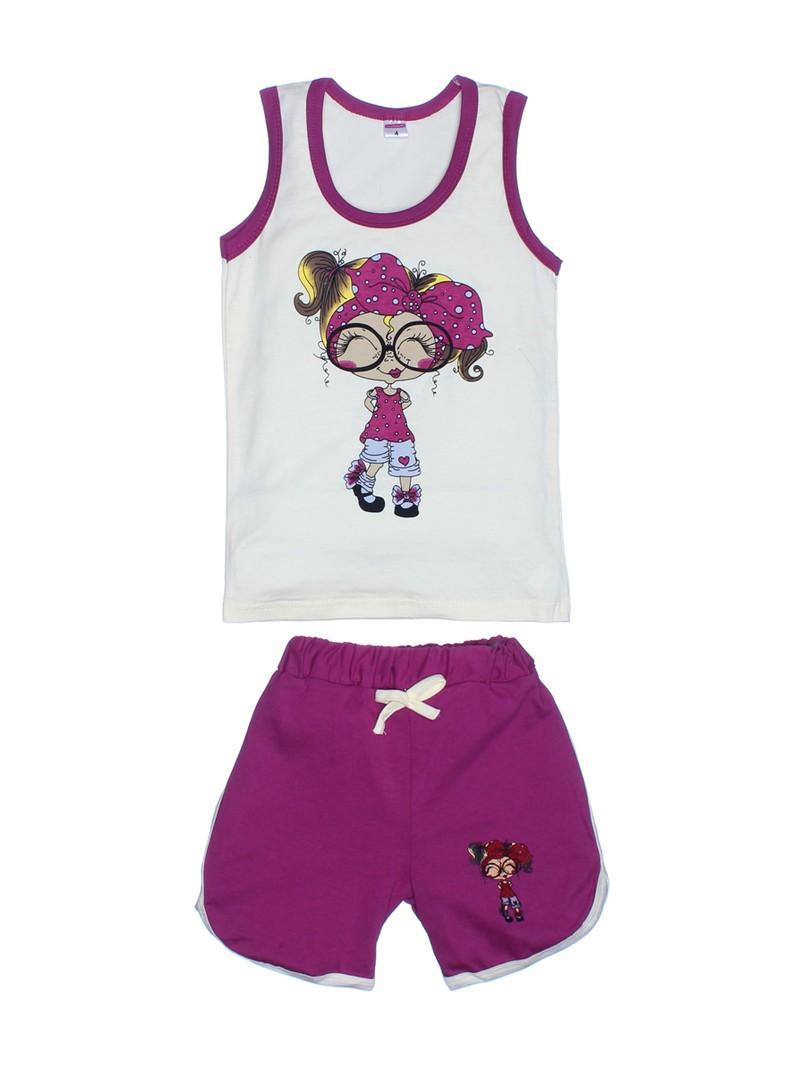 Комплекты майка с шортами для девочек, сшиты из тонкого трикотажа , кулирка 100% хлопок Цена 204 рубля Возраст от 1 до 4 лет