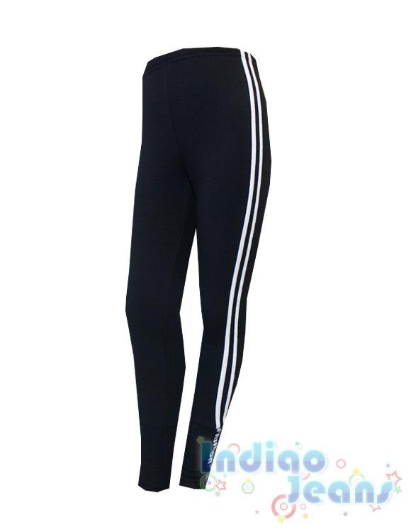Спортивные черные утепленные брюки для девочек, арт. D701641