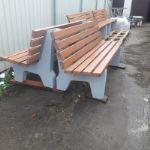 Лавочки с бетонным основанием. SPS-02 SPS-02