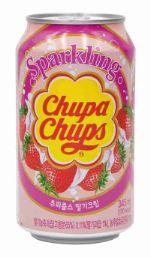 Напиток Chupa Chups Strawberry 0,345 ж/б
