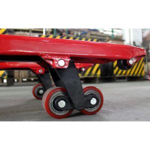 На гидравлической телеге Intertrans SGT-2500, в стандартной комплектации, установлены ролики и колеса из полиуретана, уменьшающие шум при передвижении и подходящие к большинству напольных покрытий