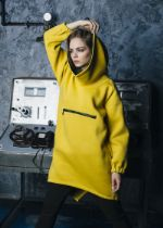 Худи Mustard oversize (унисекс) M-SQUARE