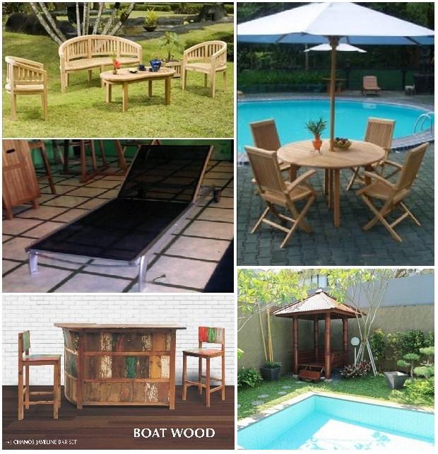 Наружная мебель. Долговечная и прочная мебель из тика, древесины кокосовой пальмы, алюминия и синтетики.