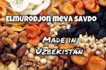 сухофрукты, фрукты, овощи из Узбекистана