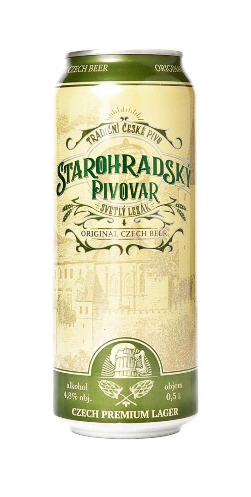 Starohradsky Pivovar           страна производитель Чехия Светлый лагер 4,8%  алк, 0,5л12х0,5 Старая чешская рецептура.