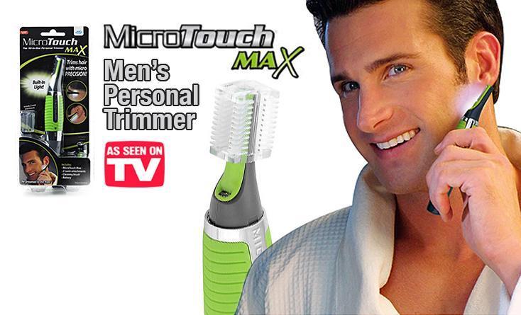 Универсальный триммер Micro Touch Max. риммер Micro Touch Max Всегда ухоженная борода, аккуратные усы и бакенбарды, ровная стрижка... Выглядеть опрятно стремятся многие мужчины, но это не так просто!