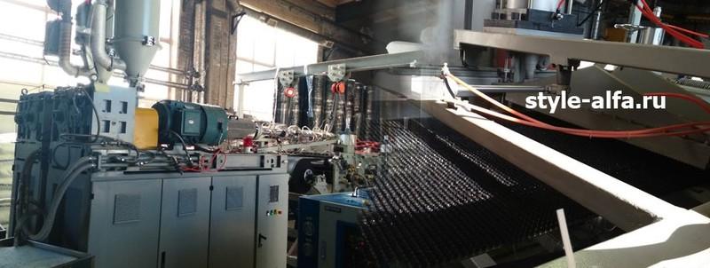Производство грязезащитного щетинистого покрытия