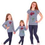 Комплект домашней одежды для всей семьи