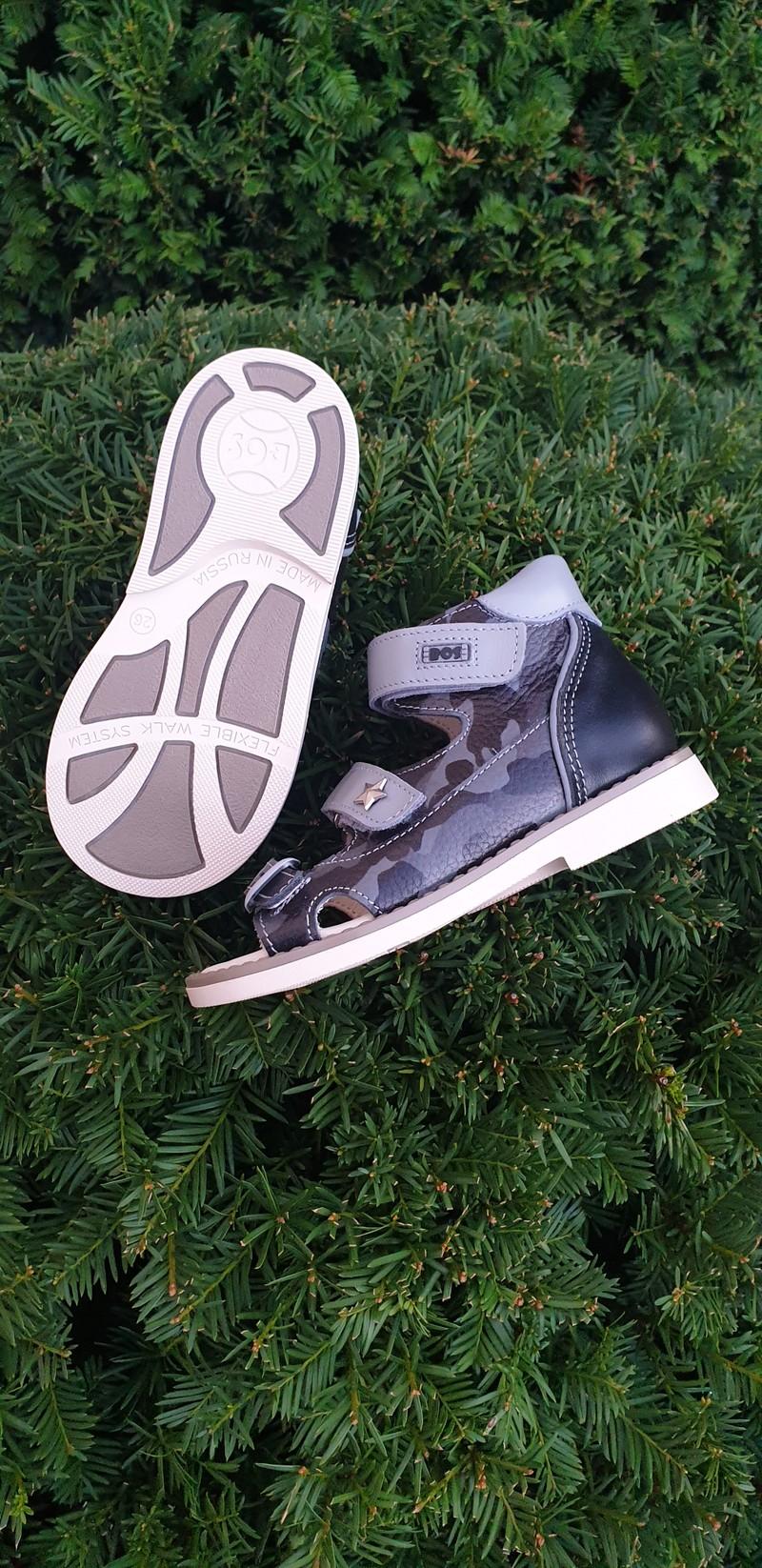 Профилактические сандалики. Натуральная кожа внутри и снаружи, каблук Томаса, стелька с супинатором, жесткий задник. С 18 по 36 р