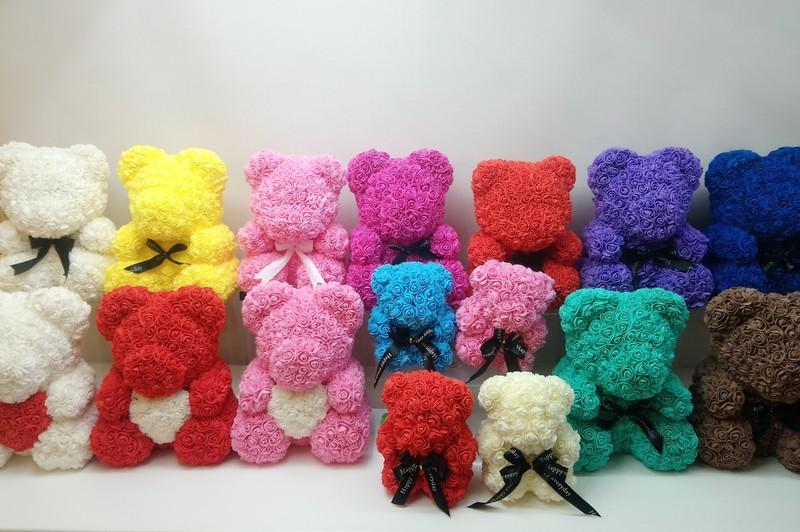 Романтичные мишки из роз (25 и 40 см)